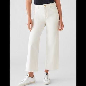 DL 1961 Hepburn wide leg jeans in Eggshell white